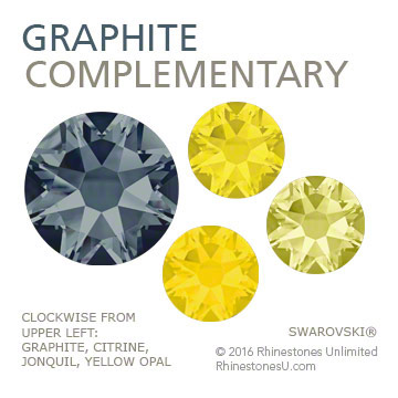 Swarovski Graphite in a complementary color pairing