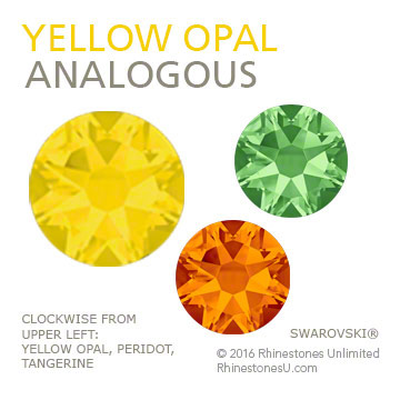 Swarovski Yellow Opal in an analogous color pairing