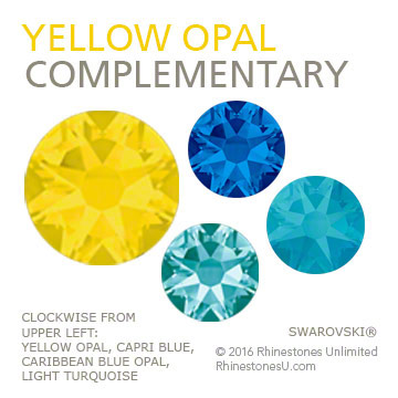 Swarovski Yellow Opal in a complementary color pairing