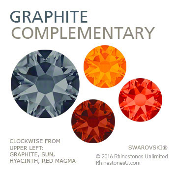 Swarovski Graphitel in a complementary color pairing
