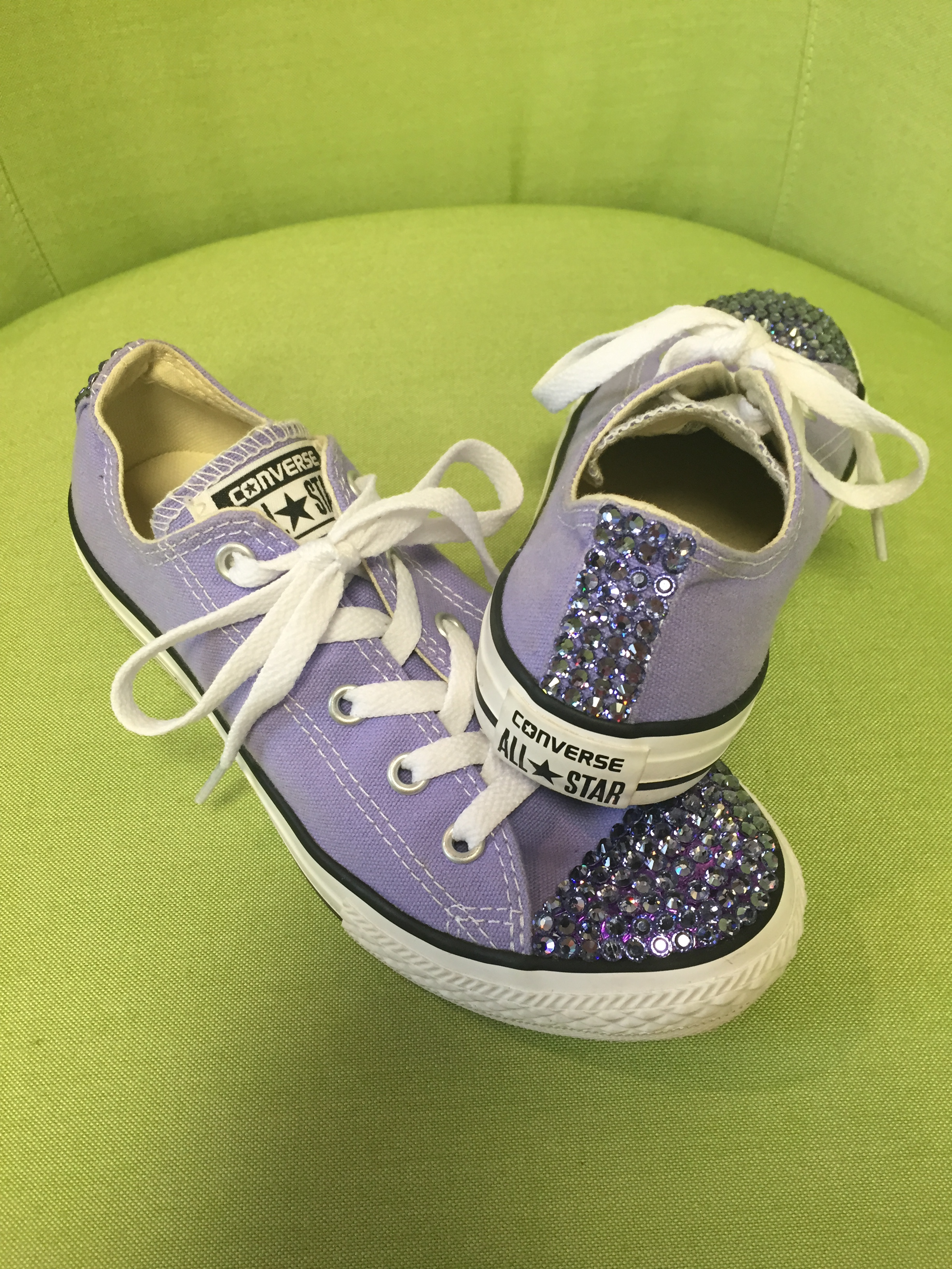 Converse- lavender with Paradise Shine