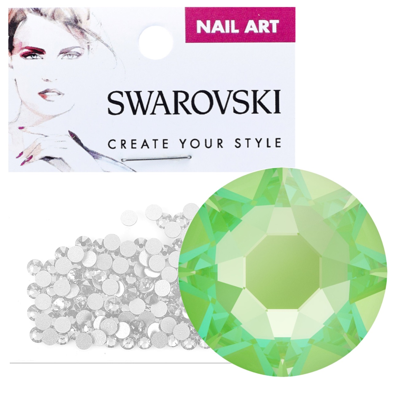 Crystals for Nails - Electric Green DeLite