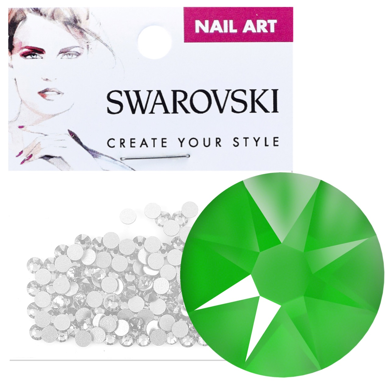Crystals for Nails - Electric Green