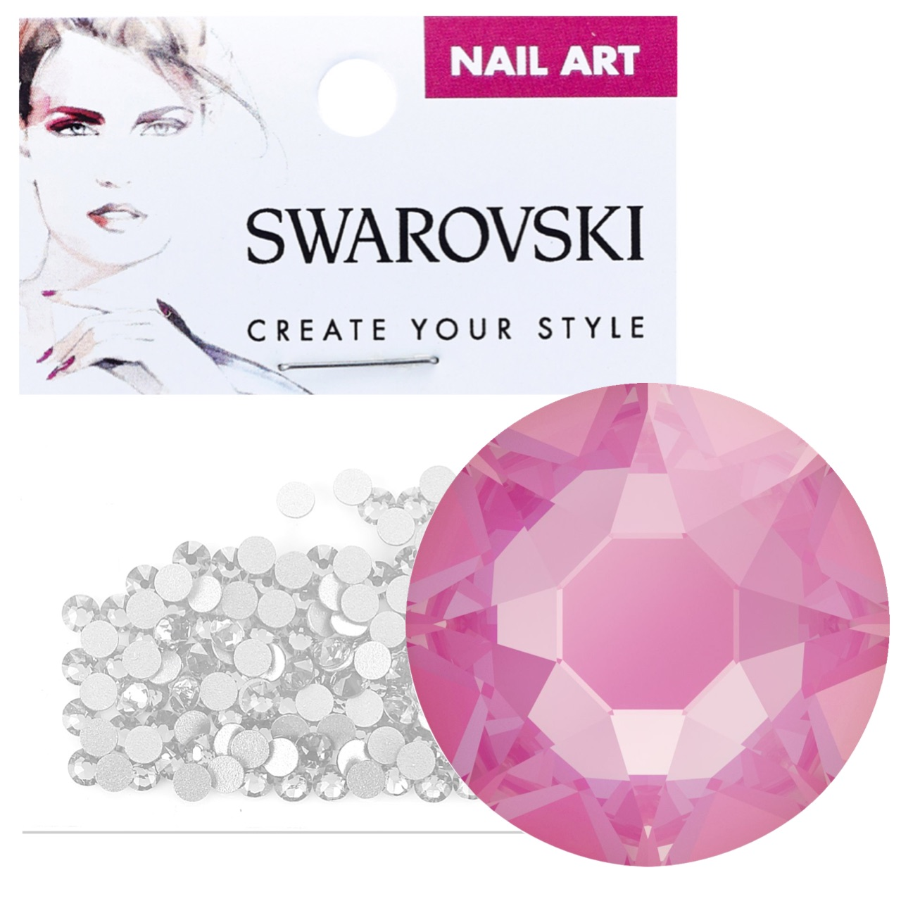 Crystals for Nails - Electric Pink DeLite
