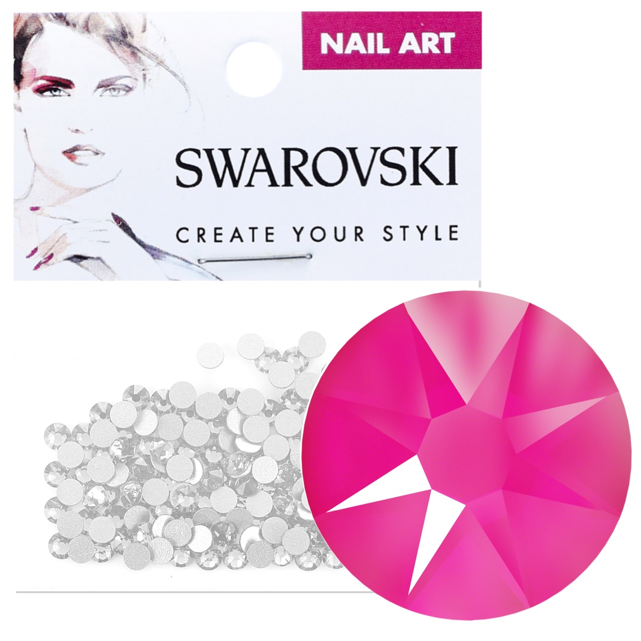 Crystals for Nails - Electric Pink