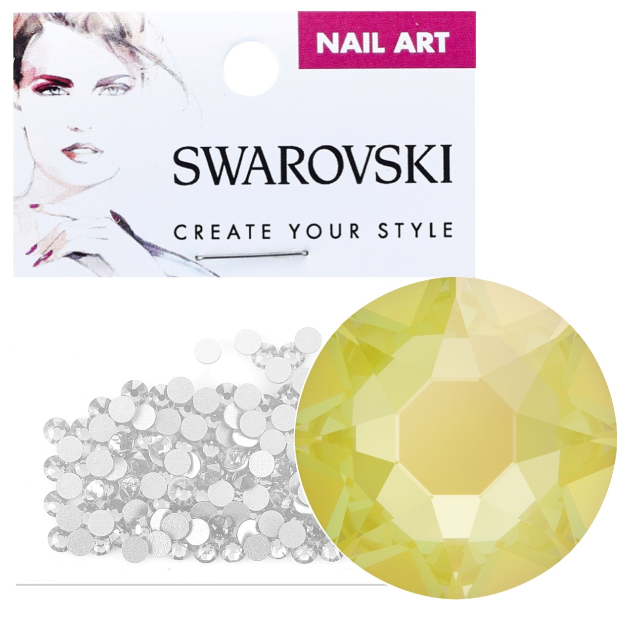 Crystals for Nails - Electric Yellow DeLite