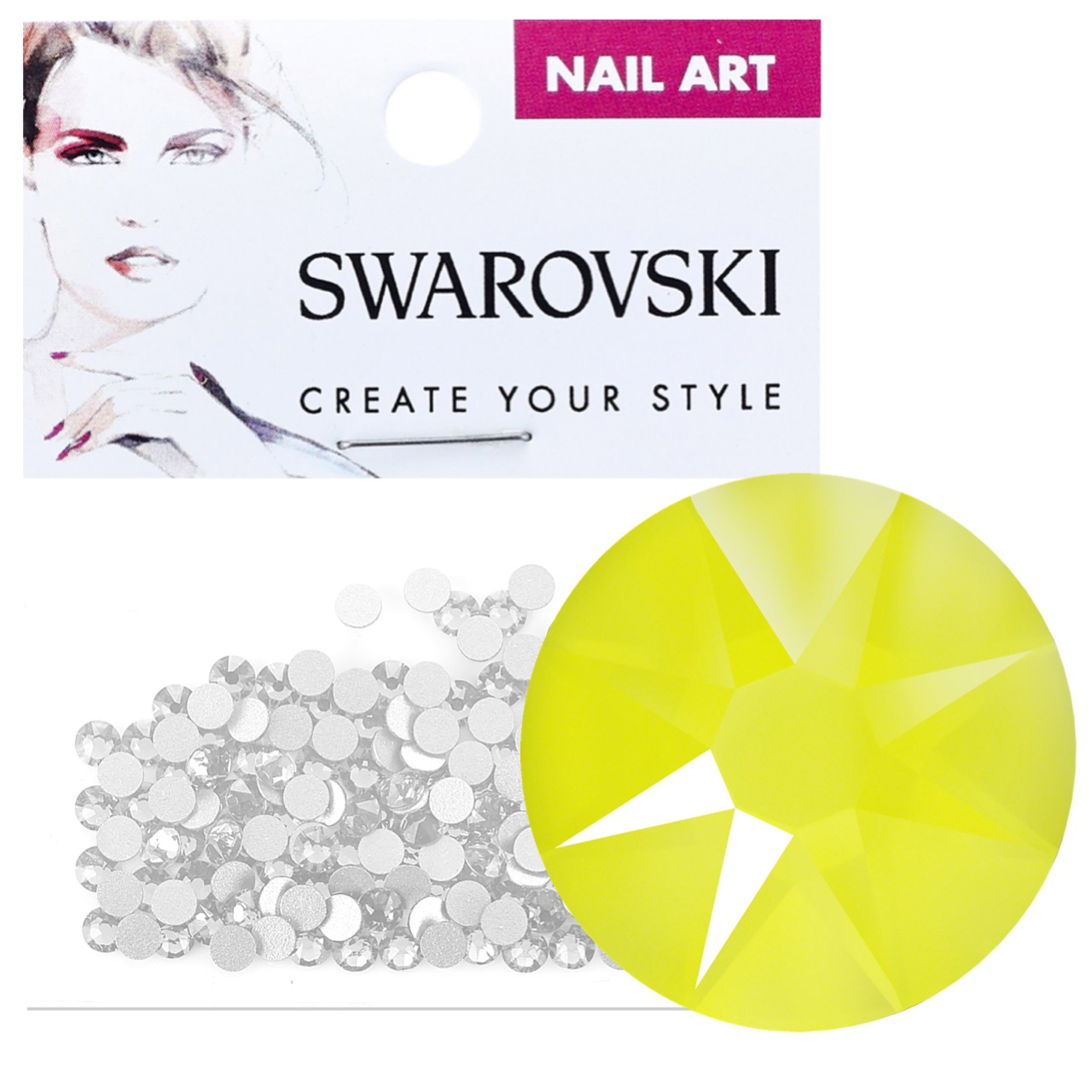 Crystals for Nails - Electric Yellow