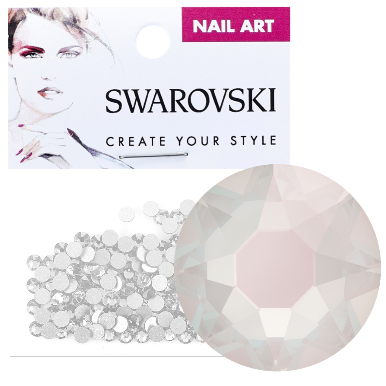 Crystals for Nails - Electric White DeLite