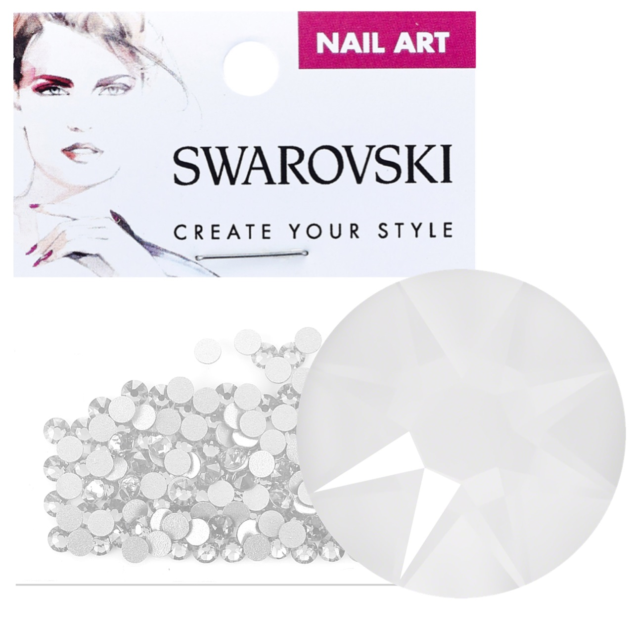 Crystals for Nails - Electric White