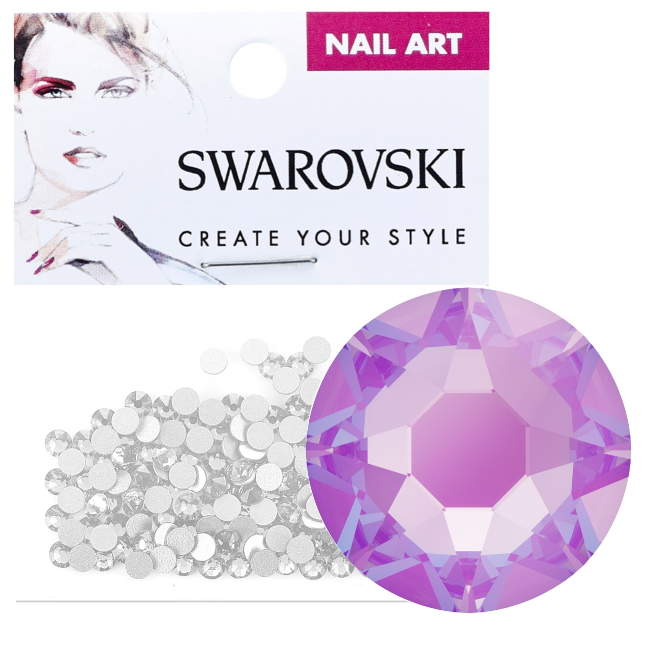 Crystals for Nails - Electric Violet DeLite