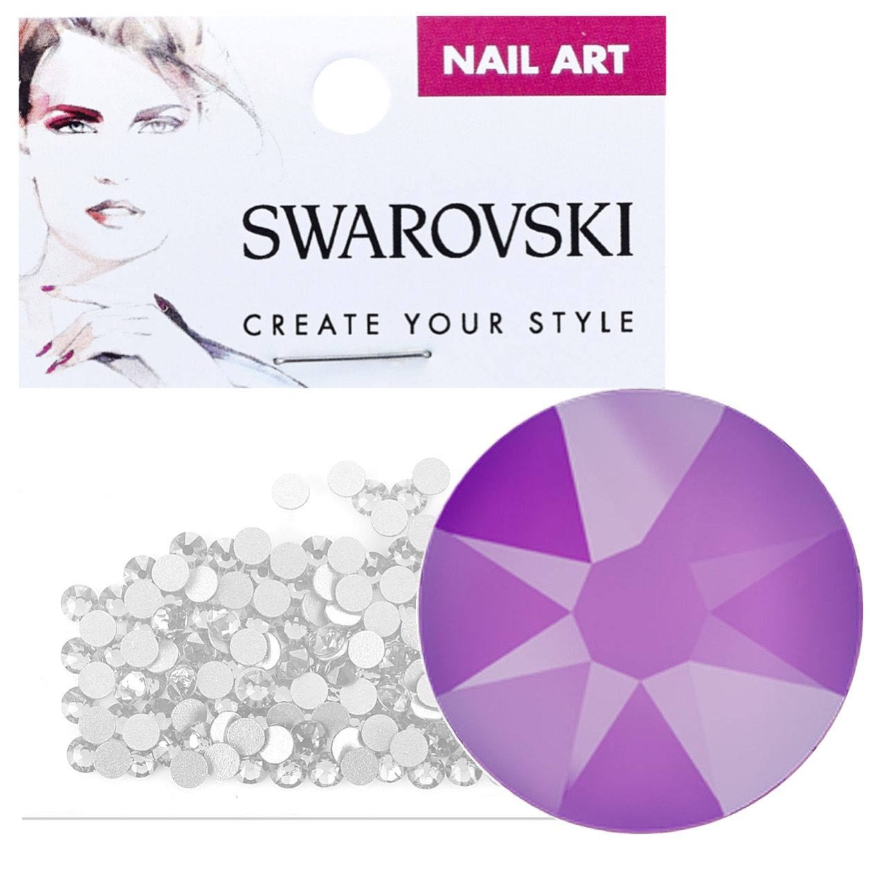 Crystals for Nails - Electric Violet