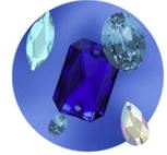 Blue Rhinestones